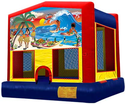 TROPICAL PARADISE 2 IN 1 JUMPER (Aro de baloncesto incluido)