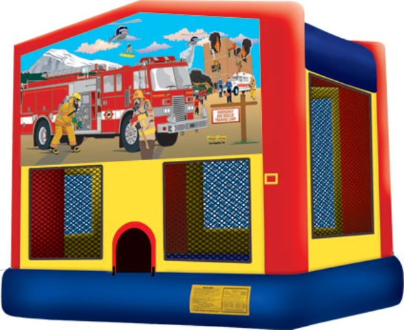 Fireman  Bounce House - 2 in 1 Jumper - Party Inflatable