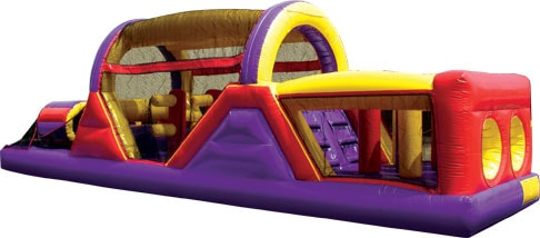Backyard Inflatable Obstacle Course - 40 ft long