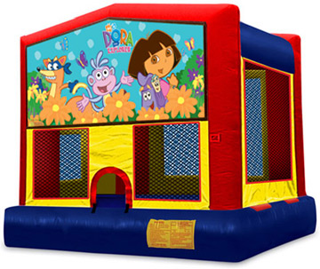 DORA EXPLORER 2 IN 1 MODULE JUMPER (basketball hoop included)