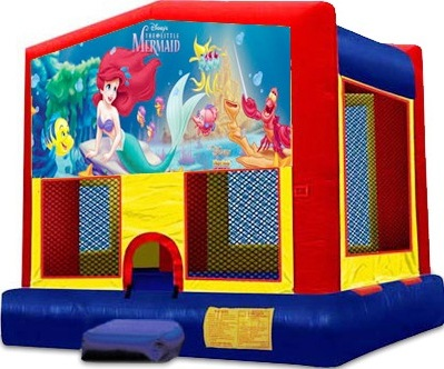 LITTLE MERMAID 2 IN 1 BOUNCE HOUSE (basketball hoop included)