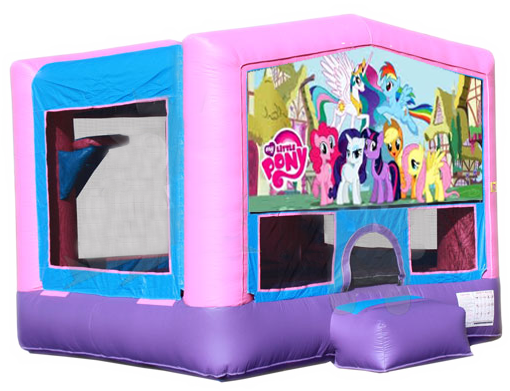 MY LITTLE PONY 2 IN 1 JUMPER (basketball hoop included)