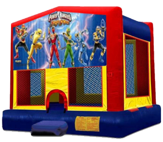 POWER RANGERS 2 IN 1 JUMPER (basketball hoop included)