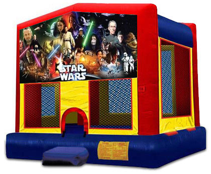 AWESOME STAR WARS 2 IN 1 JUMPER (basketball hoop included)