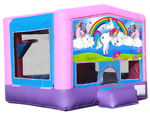 A UNICORN\'S TALE 2 IN 1 BOUNCE HOUSE (basketball hoop included)