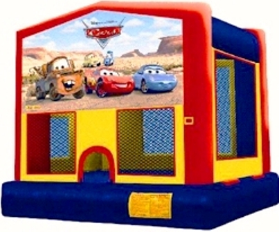CARS PIXAR 2 IN 1 MODULE JUMPER (basketball hoop included)