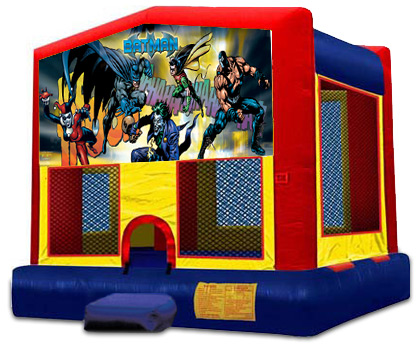 BATMAN 2 IN 1 BOUNCE HOUSE (basketball hoop included)