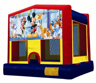 MICKEY AND FRIENDS 2 IN 1 JUMPER (basketball hoop included)