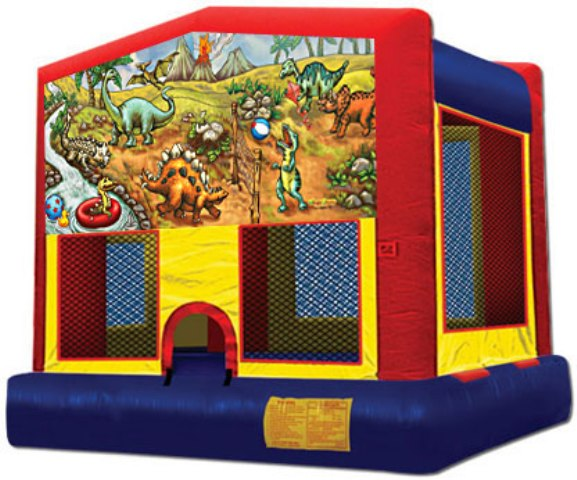 DINOSAUR ENCOUNTER 2 IN 1 JUMPER (basketball hoop included)