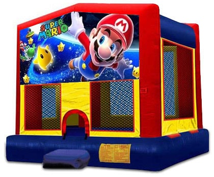 AMAZING SUPER MARIO 2 IN 1 JUMPER (basketball hoop included)