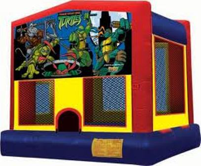 NINJA TURTLES 2 IN 1 JUMPER (basketball hoop included)