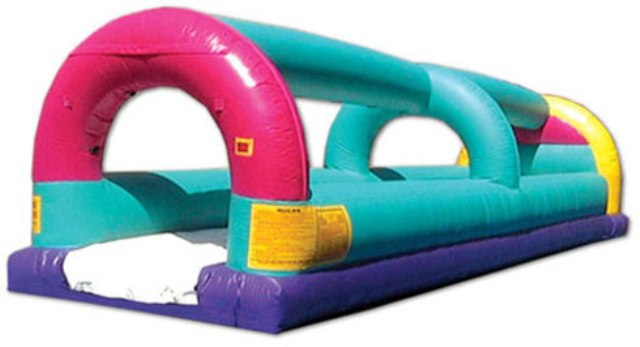 BAY AREA INFLATABLE WILD 30ft LONG SLIP & SLIDE RIDE