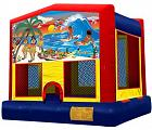TROPICAL PARADISE 2 IN 1 JUMPER (basketball hoop included)