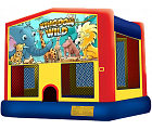 ANIMAL KINGDOM 2 IN 1 BOUNCE HOUSE (basketball hoop included)