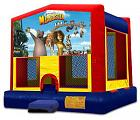 MADAGASCAR 2 IN 1 BOUNCE HOUSE (basketball hoop included)