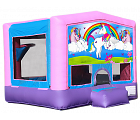A UNICORN'S TALE 2 IN 1 BOUNCE HOUSE (basketball hoop included)