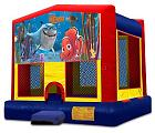 FINDING NEMO 2 IN 1 BOUNCE HOUSE (basketball hoop included)