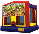 DINOSAURS MODULE BOUNCE HOUSE (basketball hoop included)
