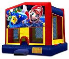 AMAZING SUPER MARIO 2 IN 1 BOUNCE HOUSE (basketball hoop include