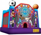A+ SPORTS USA with Basketball Hoop - Large Party Inflatable