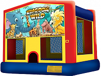 Animal Kingdom Bounce House - 2 in 1 Party Inflatable