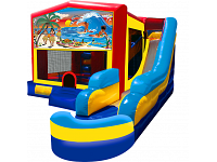 TROPICAL PARADISE 7 IN 1 COMBO (2 basketball hoops & pool incl